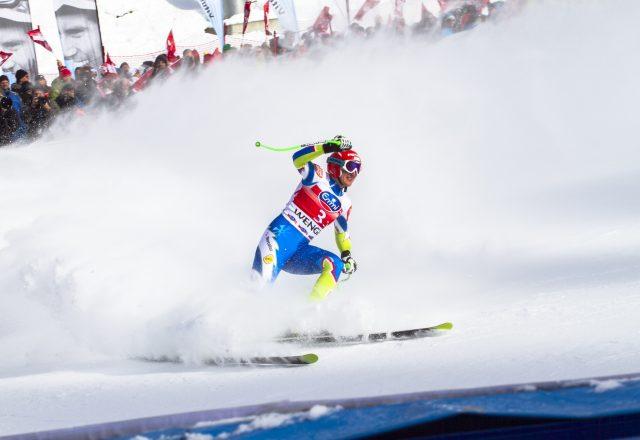 En skiløper.